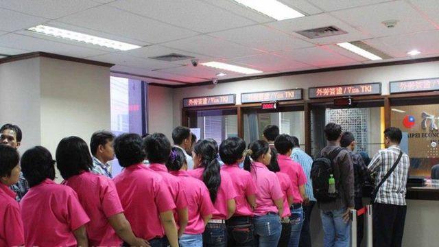 台湾有许多外来劳工