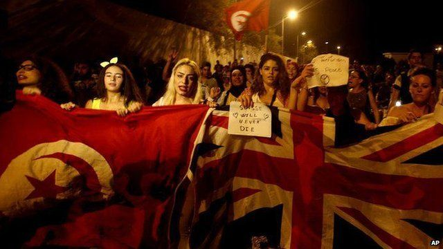 March held in Sousse to denounce killing of 38 people at beach & hotel