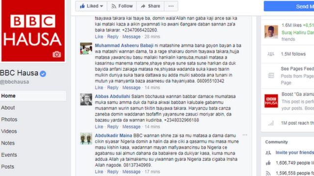 Shafin BBC Hausa Facebook