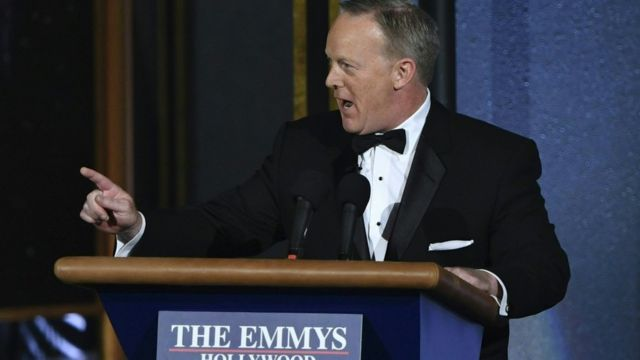 Sean Spicer dey talk for Emmy awards