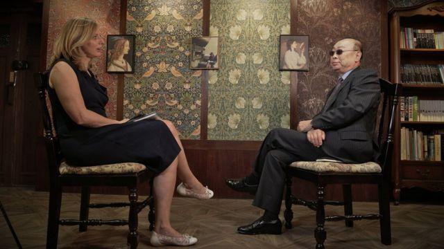 Laura Bicker, de la BBC, en la entrevista con el desertor.