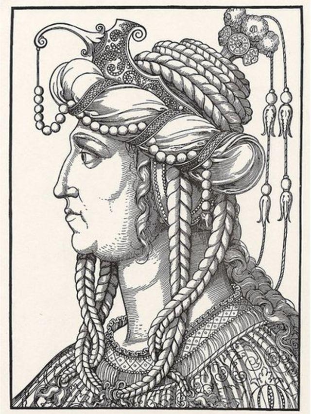 Desenho de Roxelana. Erhard Schoen.