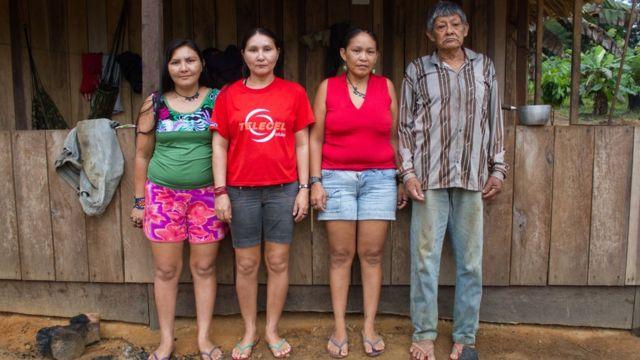 Aruká y sus 3 hijas