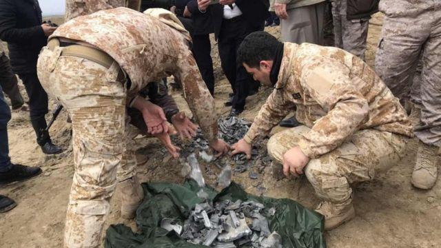 قصف صاروخي ايراني لقاعدة امريكية في العراق