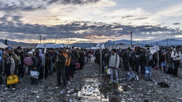 مخيم اللاجئين في أوروبا