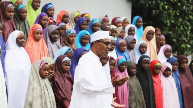 Ààrẹ́ Buhari àtàwọn akẹ́kọ̀bìnrin Chibok
