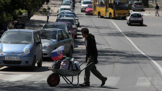 Пешеход в Севастополе