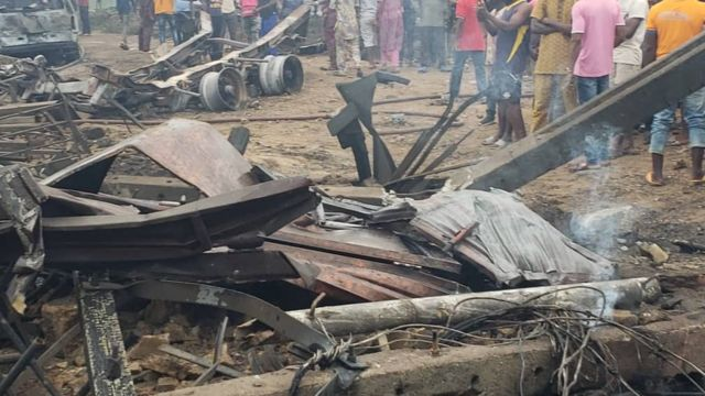 Gas explosion in Lagos