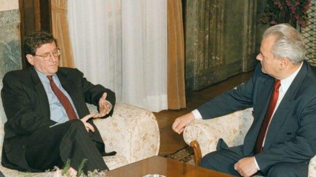 Slobodan Milošević i Ričard Holbruk