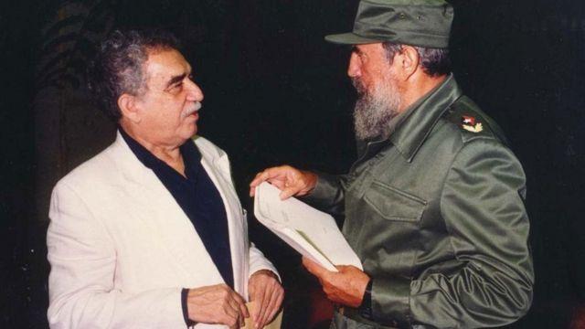García Márquez com Fidel Castro em 1977