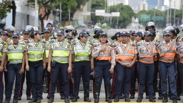 Полиция на улицах Каракаса