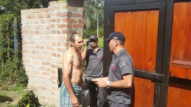 Martínez Betancur al momento de ser detenido.
