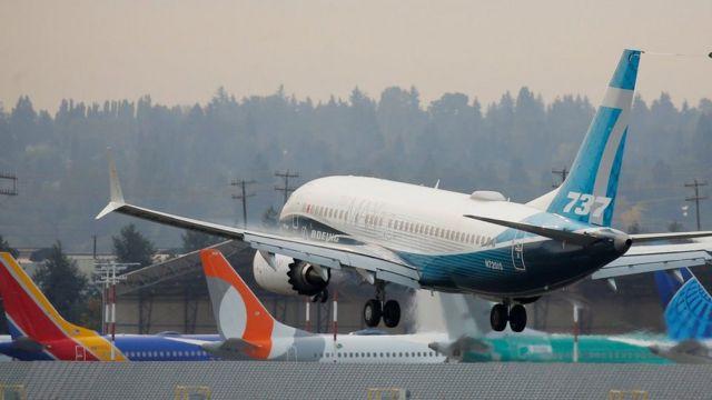 Prueba del 737 Max el pasado 30 de septiembre en Seattle, Estados Unidos.
