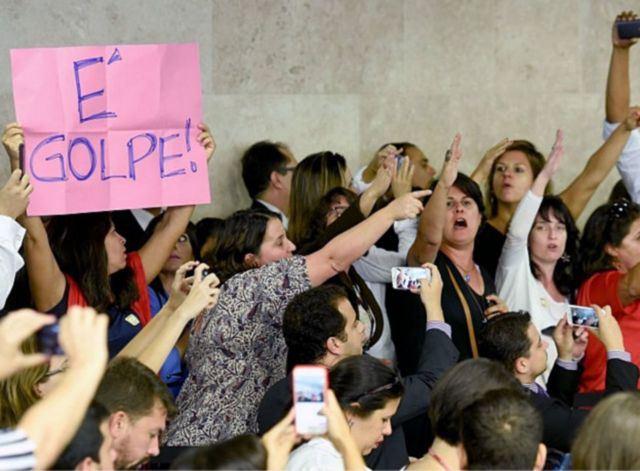 Protestas por destitución de Rousseff