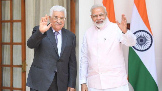 मई 2017 में चार दिनों के भारत दौरे पर आए थे फ़लस्तीन के राष्ट्रपति मोहम्मद अब्बास