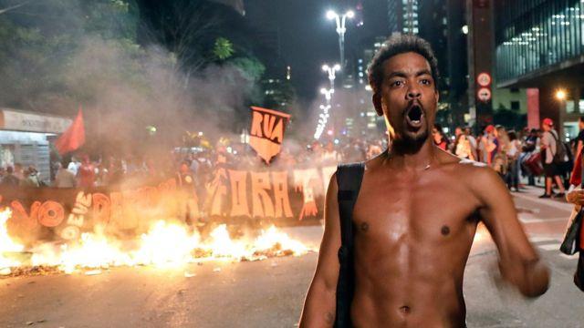 Сторонник Русеф в Сан-Паулу