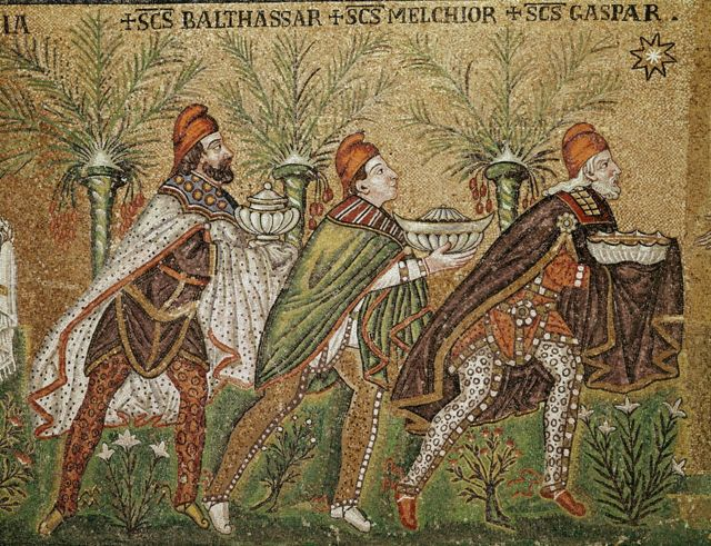رسم يجسد ثلاثة ملوك في كنيسة سانت أبولينار نوفو