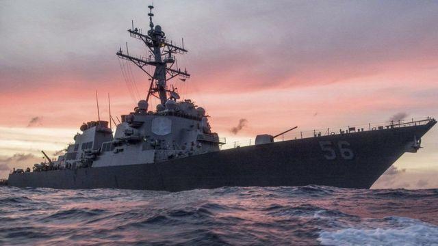 Markabka dagaalka Maraykanka ee USS John McCain ee shilka galay