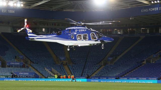 Helicóptero en el que viajaba el dueño del Leicester City