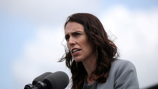 New Zealand Prime Minister Jacinda Ardern speaks during a press conference