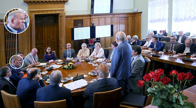 Алексей Бирюков на заседании ректората МГУ