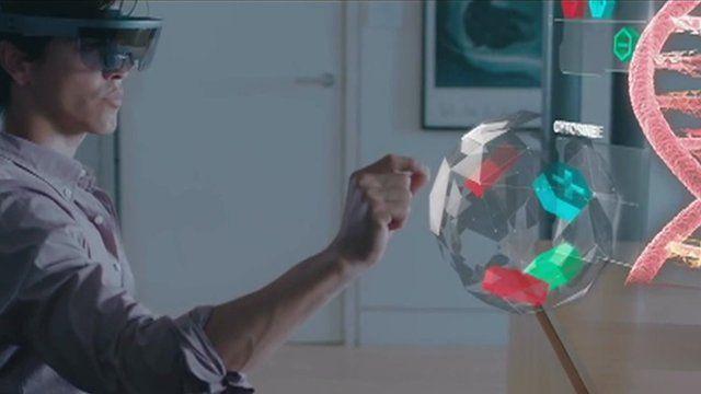 Man using HoloLens