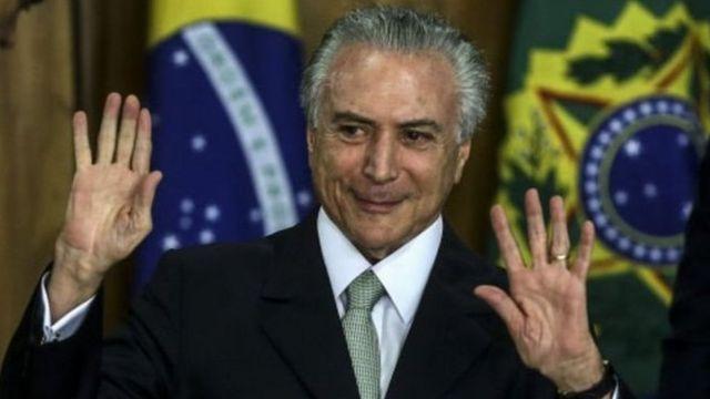 Président Michel Temer Brésil