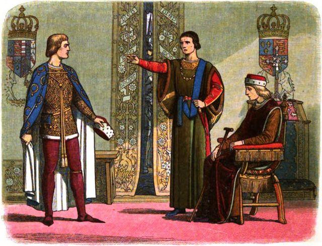 Йорк и Соммерсет с Генрихом VI.