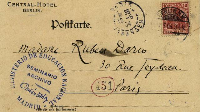Carta dirigida a la señora de Rubén Darío