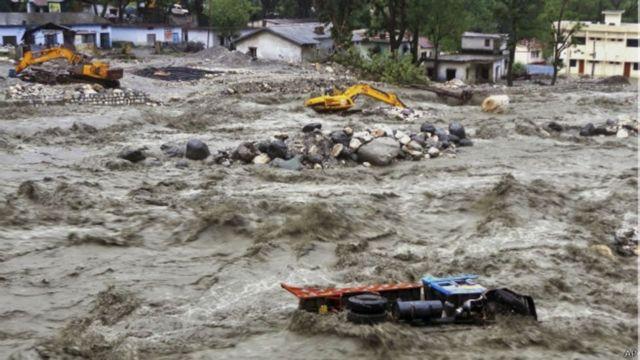 साल 2017 के बाढ़ और भूस्खलन से हुई तबाही