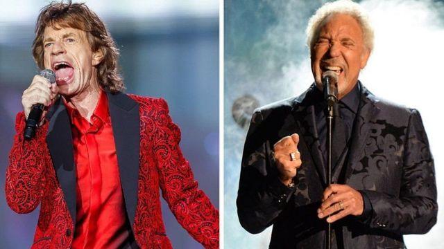 Sir Mick Jagger ve Sir Tom Jones