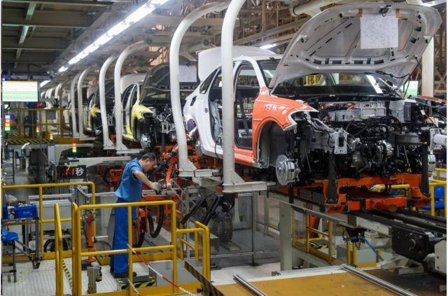 上汽大眾新能源汽車生產線