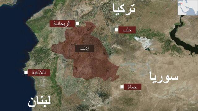 خارطة ادلب