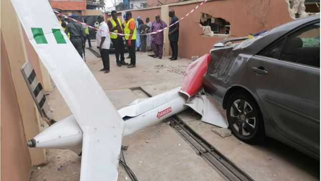 Helicopter crash in Lagos today