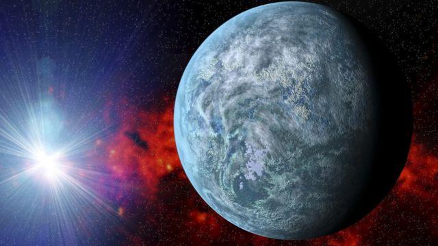 exoplaneta en el espacio