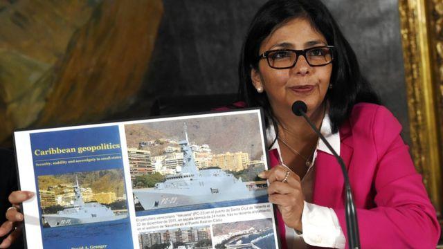 La ministra de Relaciones Exteriores de Venezuela, Delcy Rodríguez.