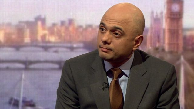 Sajid Javid, Business Secretary.