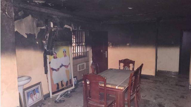 Sunday Igboho house wey burn