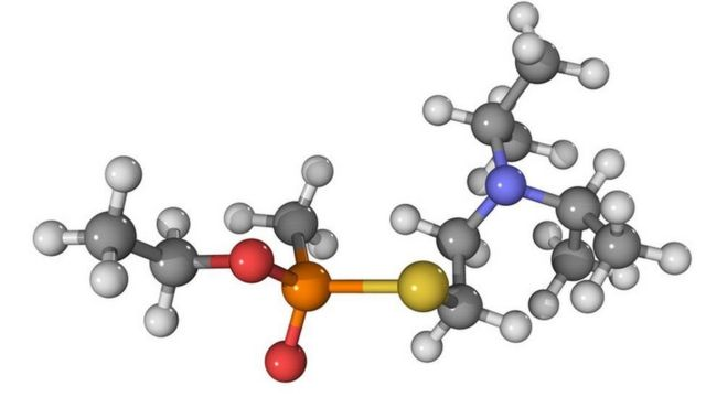 एजेंट वीएक्स के अणु की संरचना