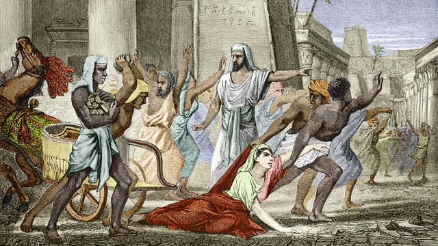"""lustración del libro del siglo XIX """"Vidas de científicos ilustres"""" sobre la muerte de Hipatia de Alejandría"""