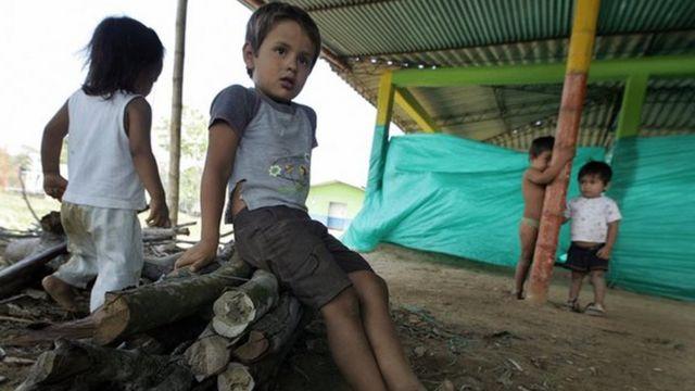 Niños en pobreza en Colombia