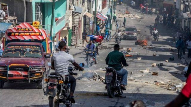 Haiti tem vivido semanas de protestos intensos contra o presidente atual