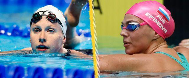 Lilly King and Yulia Efimova