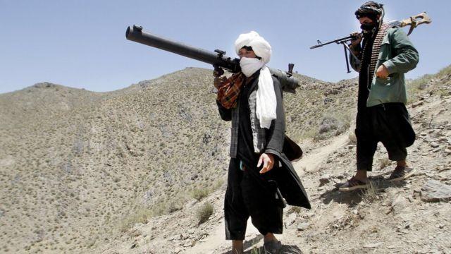 Wasu mayakan Taliban a lardin Herat a 2016