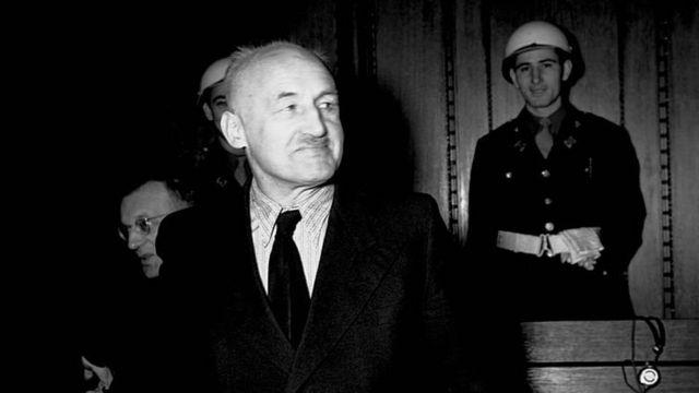 Julius Streicher ante el tribunal de Núremberg