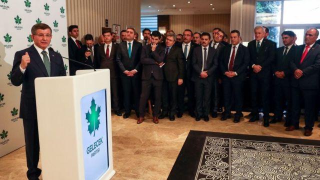 Ahmet Davutoğlu, Gelecek Partisi Kurucular Kurulu toplantısı