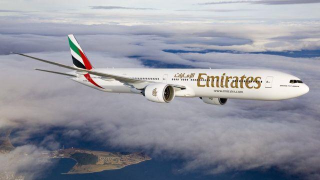 Avión de Emirates