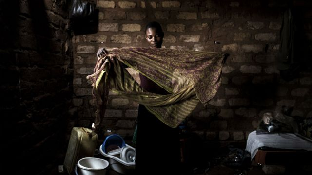 A woman in the Kasai region, Democratic Republic of Congo