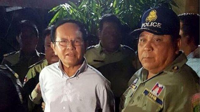 นายเกิม โซะคา(ซ้าย) ผู้นำพรรคซีเอ็นอาร์พี ถูกตำรวจจับกุมและตั้งข้อหากบฏ