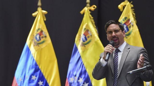 Freddy Guevara en la sesión